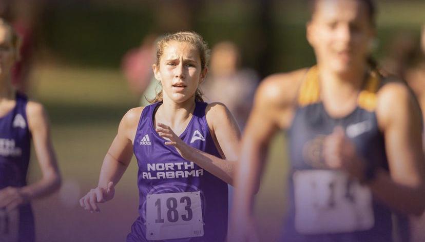 Beth Ann Tucker running for UNA Cross Country